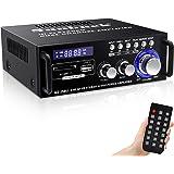 180W Wireless Bluetooth Stereo Amplifier, Sunbuck Dual Channel Sound Power Audio Receiver w/USB, SD Card, FM Radio for Home T