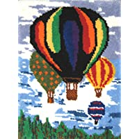 M.C.G. Textiles Hot Air Balloons Latch Hook Rug Kit