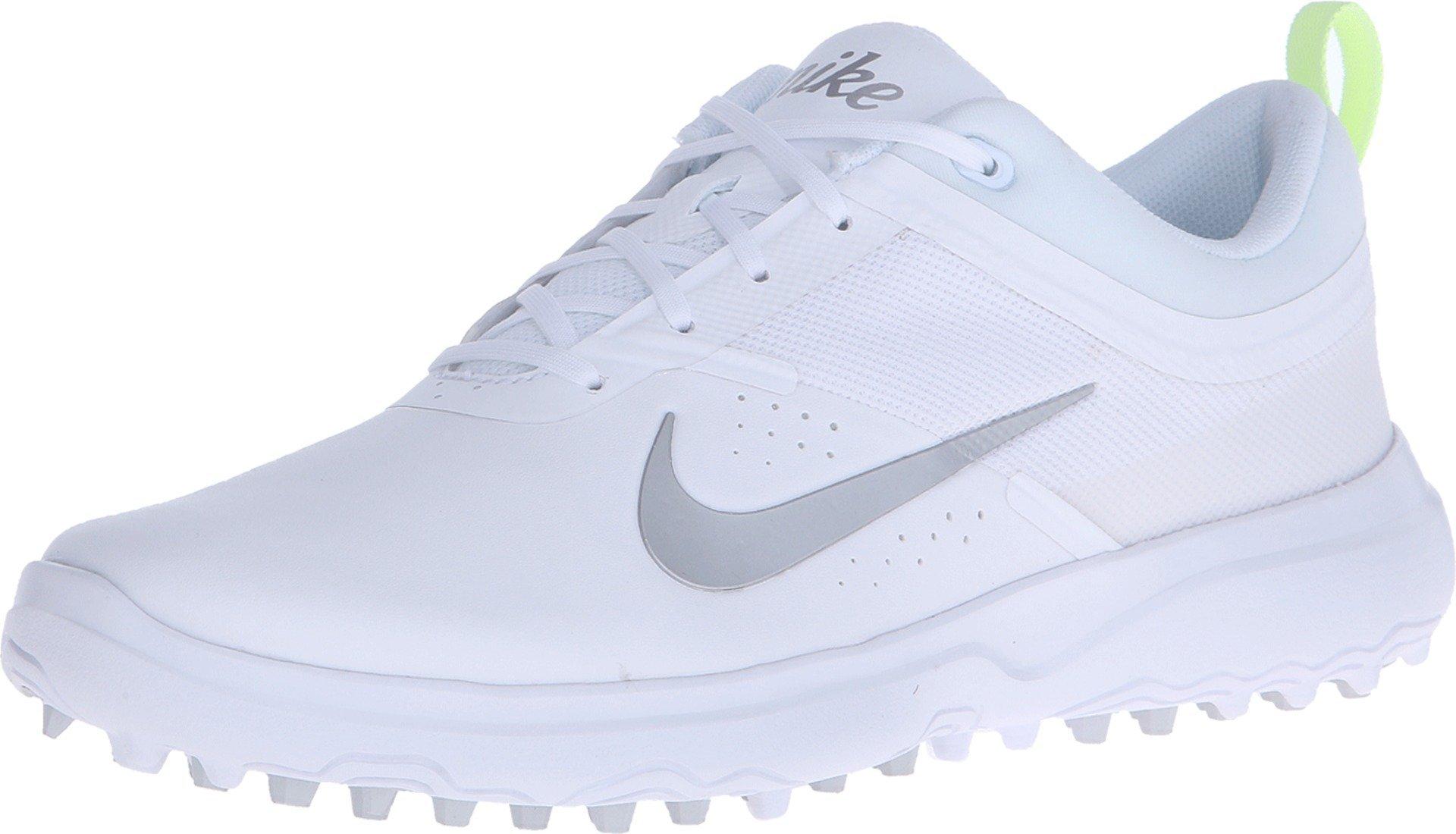 Nike AKAMAI Spikeless Golf Shoes 2017 Women White/Pure Platinum/Metallic Silver Medium 6.5