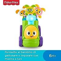 Fisher-Price Il Trenino di Robottino, Giocattolo Elettronico per Lo Sviluppo del Bambino, dai 9 Mesi, FXH95