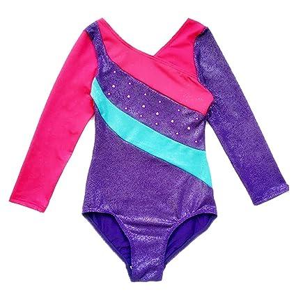 8b29ba0aa Amazon.com   Happy Cherry Child Girls Long Sleeve Gymnastics Leotard ...