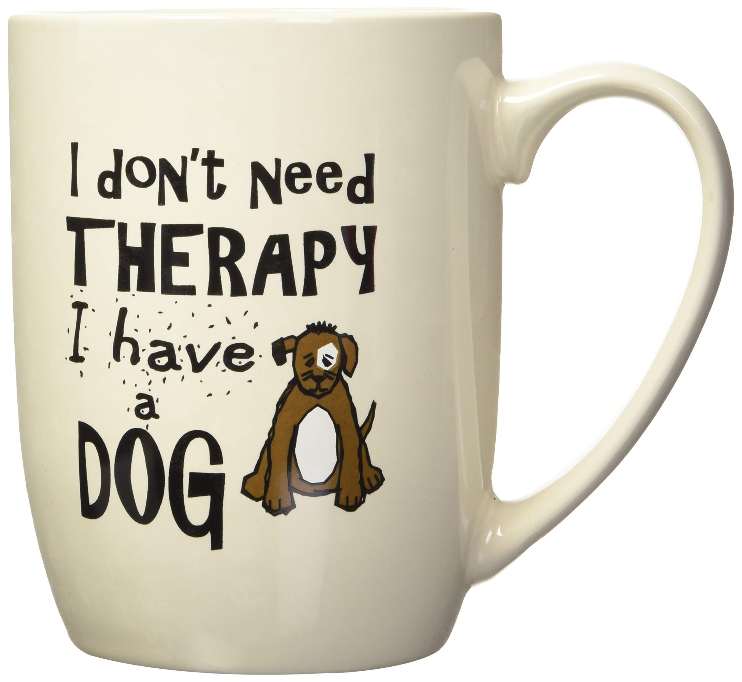 PetRageous I Don't Need Therapy I Have a Dog Mug, 24 oz, Natural by PetRageous (Image #1)