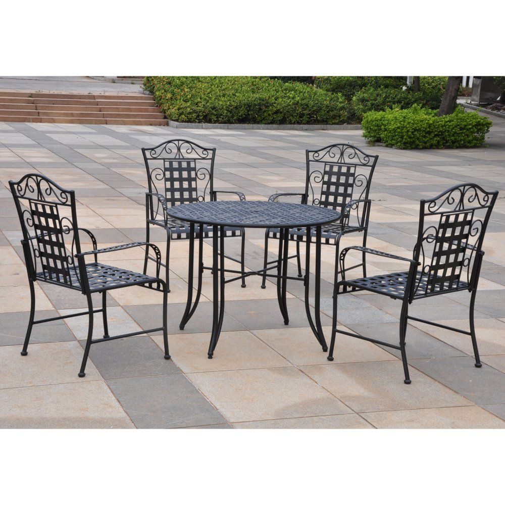 Amazon.com : International Caravan Mandalay Iron Outdoor Patio Game Group :  Outdoor And Patio Furniture Sets : Garden U0026 Outdoor
