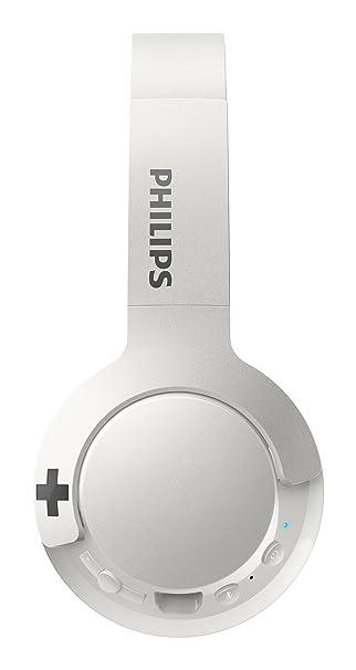 Philips SHB3075WT - Auriculares Inalambricos (Bluetooth, con micrófono, aislantes de Ruido, Plegables, 12 h de reproducción) Blanco: Amazon.es: Electrónica