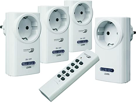 Prese Telecomandate Dimmer.Home Easy He815s Set Di 4 Prese Telecomandate On Off E Variatore
