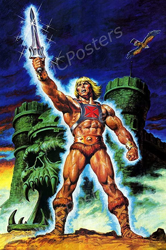 16 x 24 TVS821 MCPosters 41cm x 61cm Masters of The Universe He-Man Cartoon TV Show Series Poster Glossy Finish