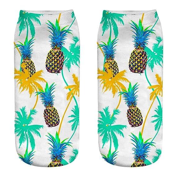 2019 Despeje Calcetines Hombres Calcetines De Algodón Casuales Lindos 3D Frutas Impresión Calcetines Medios Calcetines Calcetines Deportivos: Amazon.es: ...