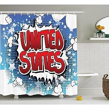 Hu0026S Amerikanische Einrichtung Sammlung, Retro United States Schreiben  Poster Text Cartoon Comic Pop Art Stil