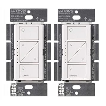 Lutron PD-6WCL-WH Caseta Wireless Smart Lighting Dimmer Switch, White (2