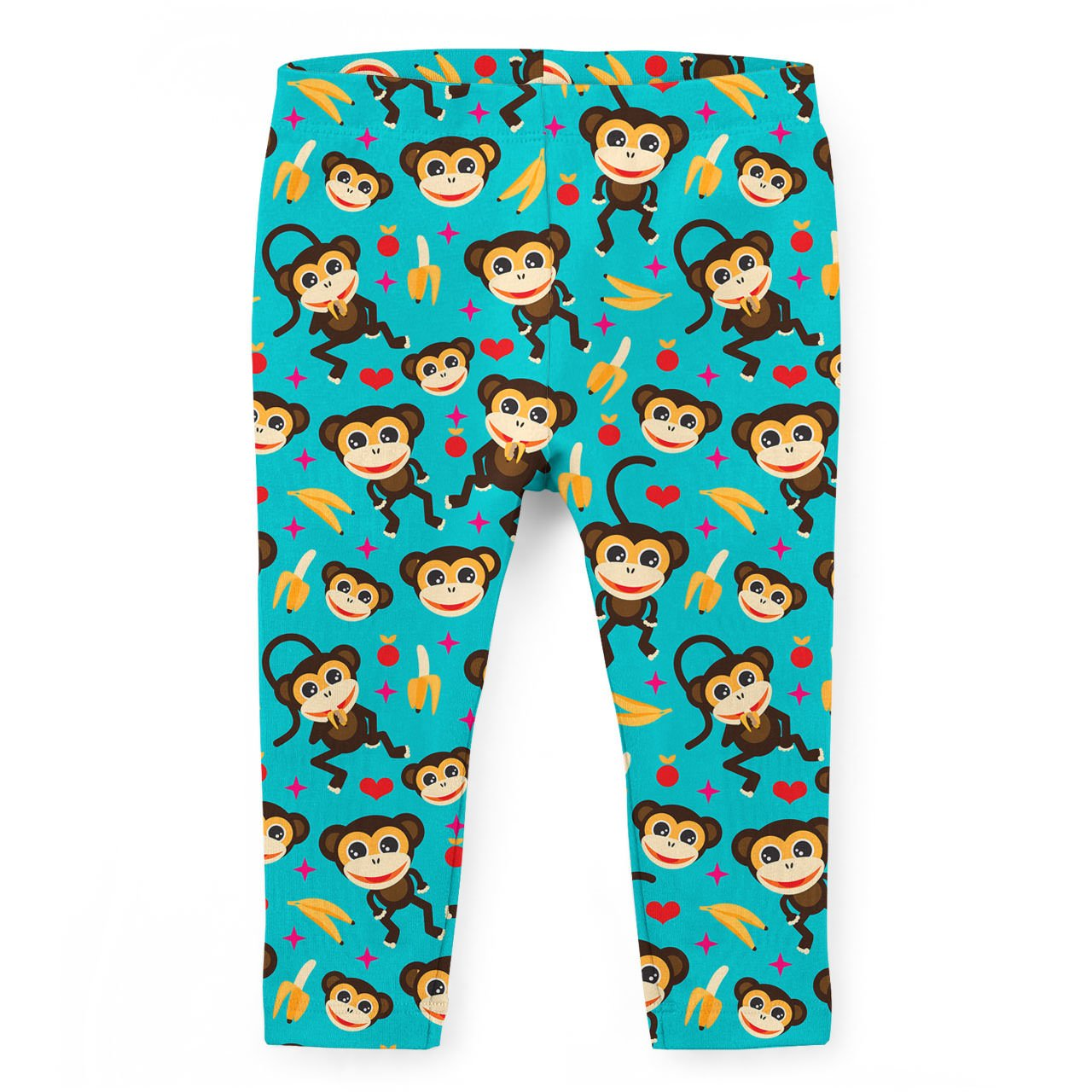 Monkeys Go Bananas Kids Capri Leggings