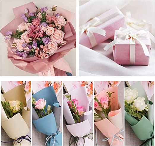 50cmx76cm Craft Gift Wrap Flowers Coloured Tissue Paper High Quality 48 Sheets