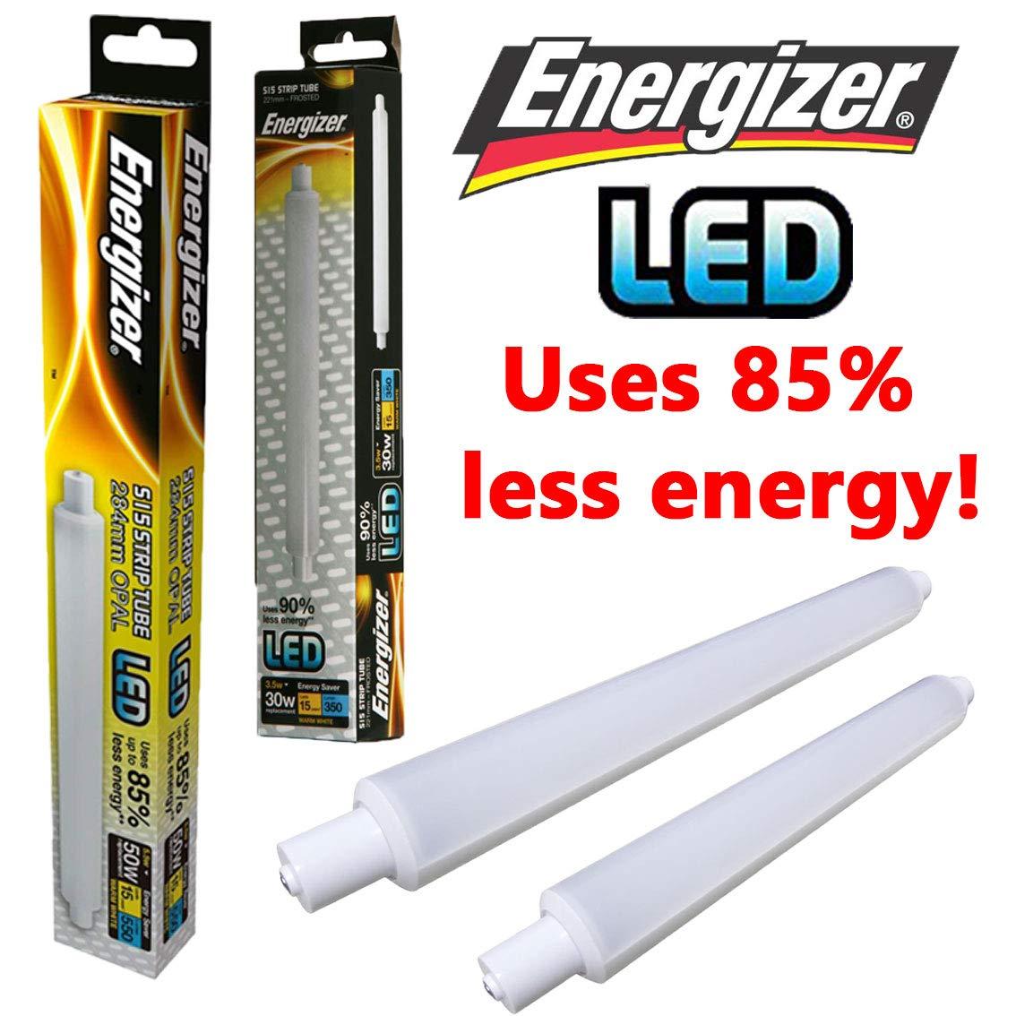 Energizer LED Strip Energy Saving Lightbulb, S15s, 5.5 W, Warm White S9218