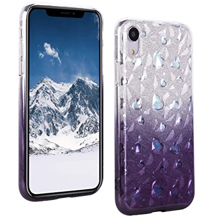 coque iphone xr paillette rose