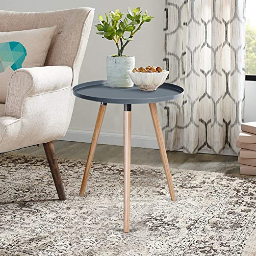 Inmozata Scandinavian Coffee Table Round End Table Small Side