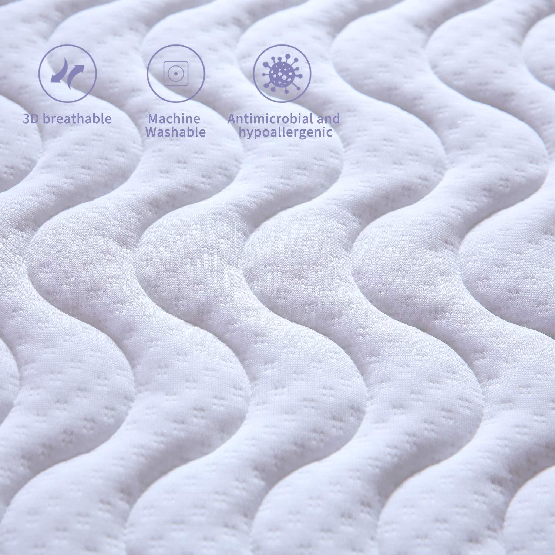 Essentials Cubierta de colchón de Espuma viscoelástica Certipur con Soporte de 7 Zonas, 90 x 200 x 6 cm: Amazon.es: Hogar