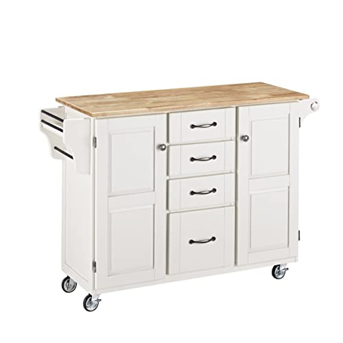 Create-a-cart White 2 Door Kitchen Cart