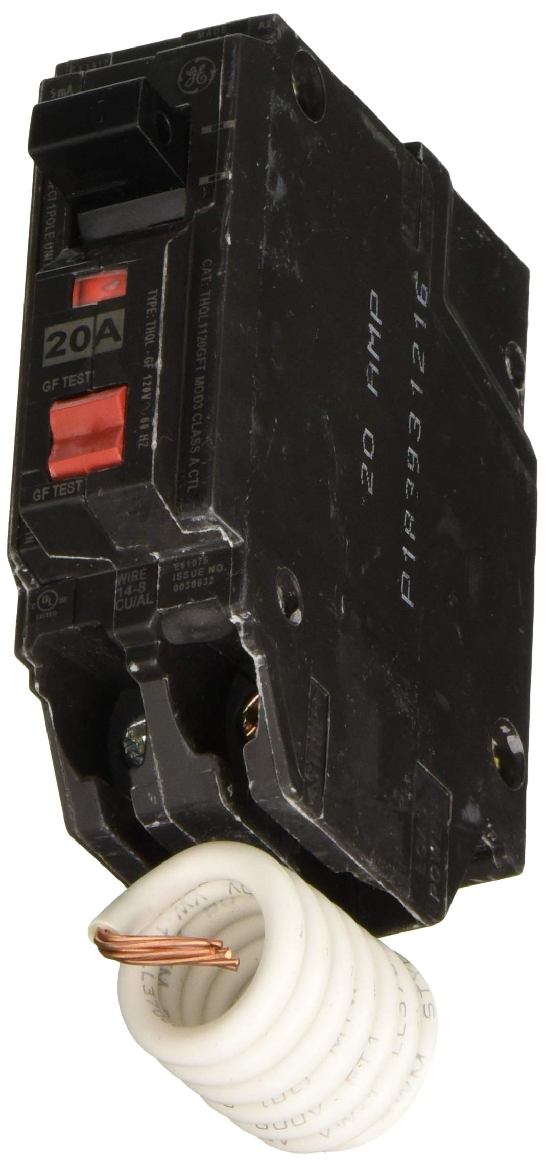 GE Energy Industrial Solutions THQL1120GFP Single Pole Circuit Breaker, 20-Amp