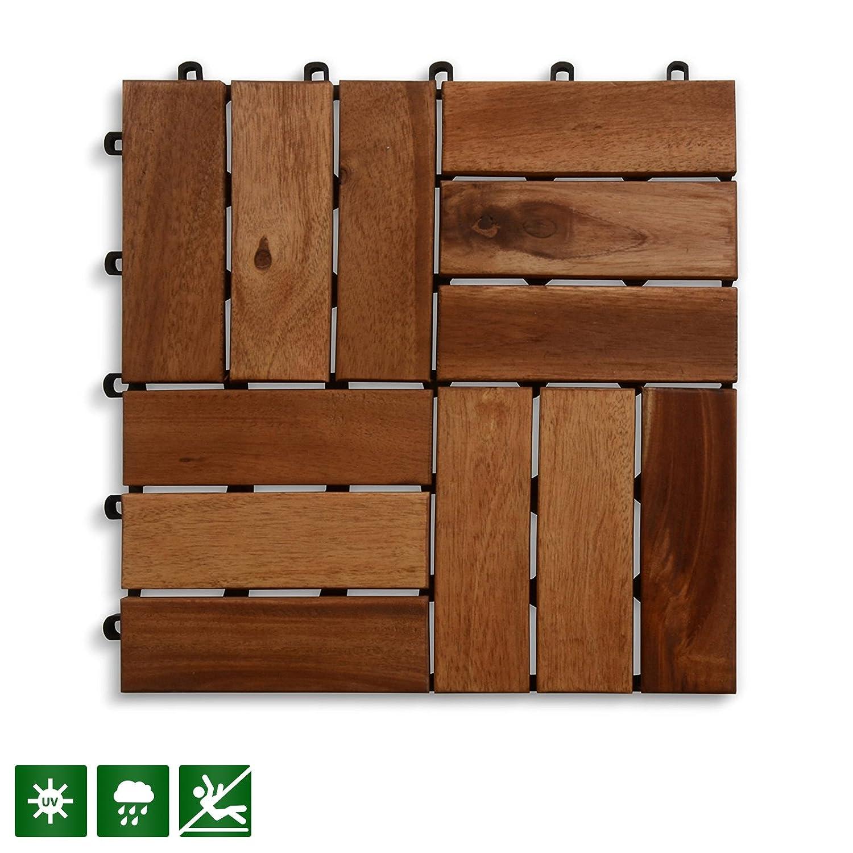 Acacia木製デッキタイル|複合デッキ、フローリング&パティオPavers |インドアとアウトドアフローリングtiles|チェックパターン12