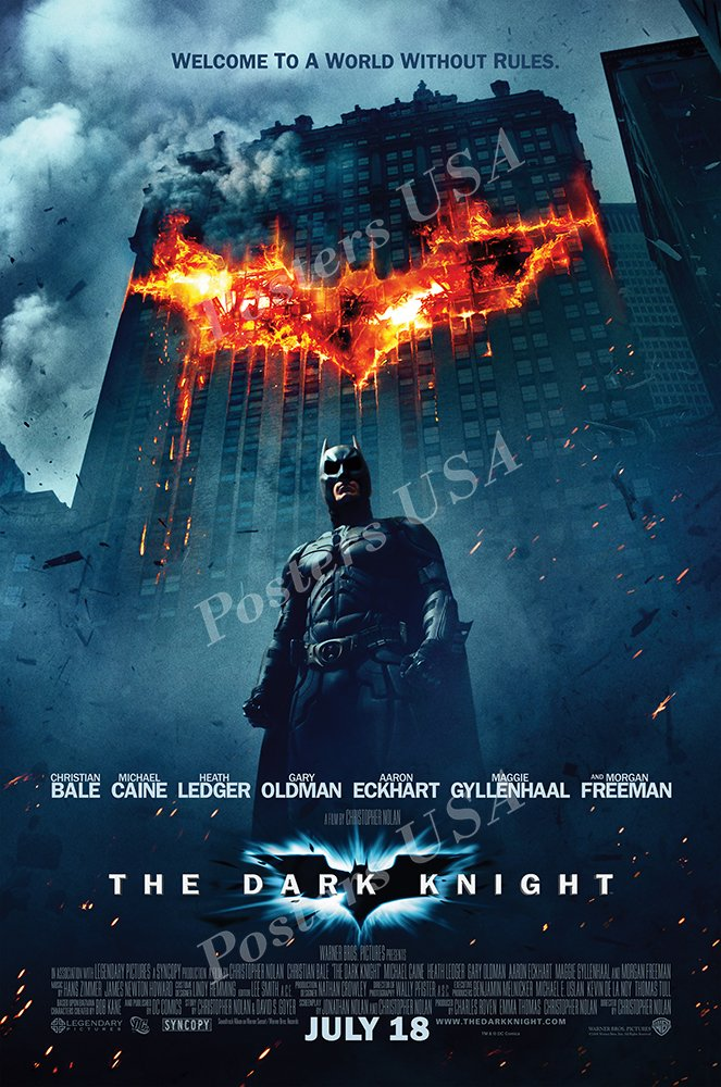 "Posters USA - DC The Dark Knight Batman Movie Poster GLOSSY FINISH - FIL207 (24"" x 36"" (61cm x 91.5cm))"