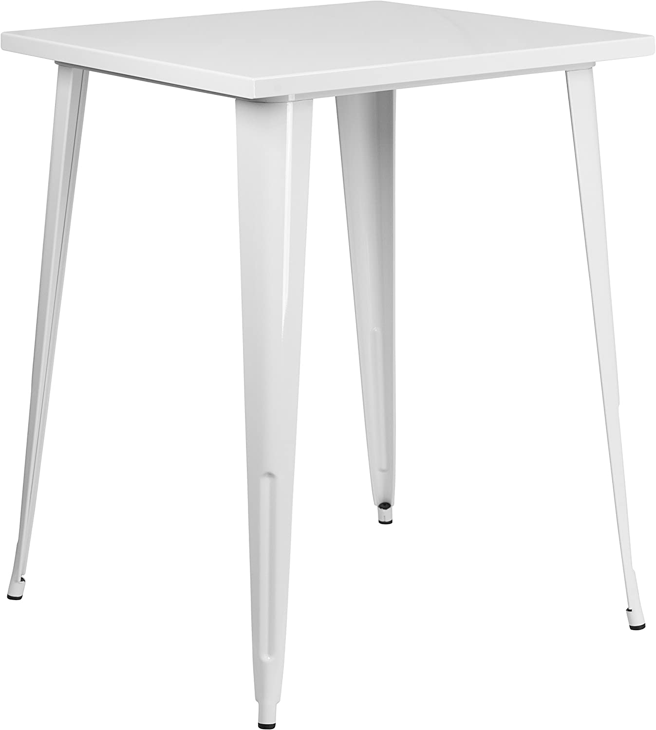 Flash Furniture 31.5'' Square White Metal Indoor-Outdoor Bar Height Table