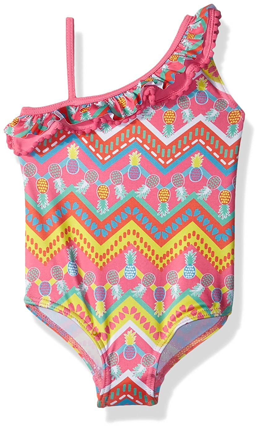 Pink Platinum Baby Girls' Pinapple with Heart 1-Piece Swimsuit