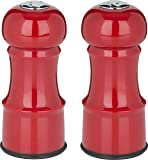 "Trudeau 4.5"" Salt & Pepper Set Salt and Pepper Shakers, Burgundy"