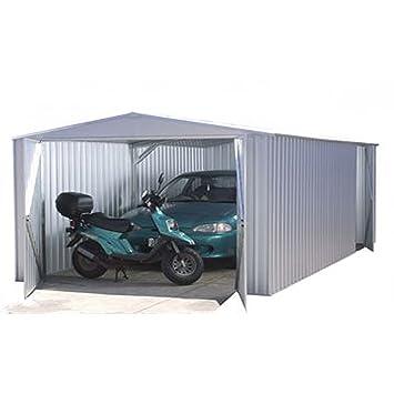 10 x 20 Metal Garaje - no Windows, Puertas correderas, Metal cobertizo - por Walton: Amazon.es: Jardín