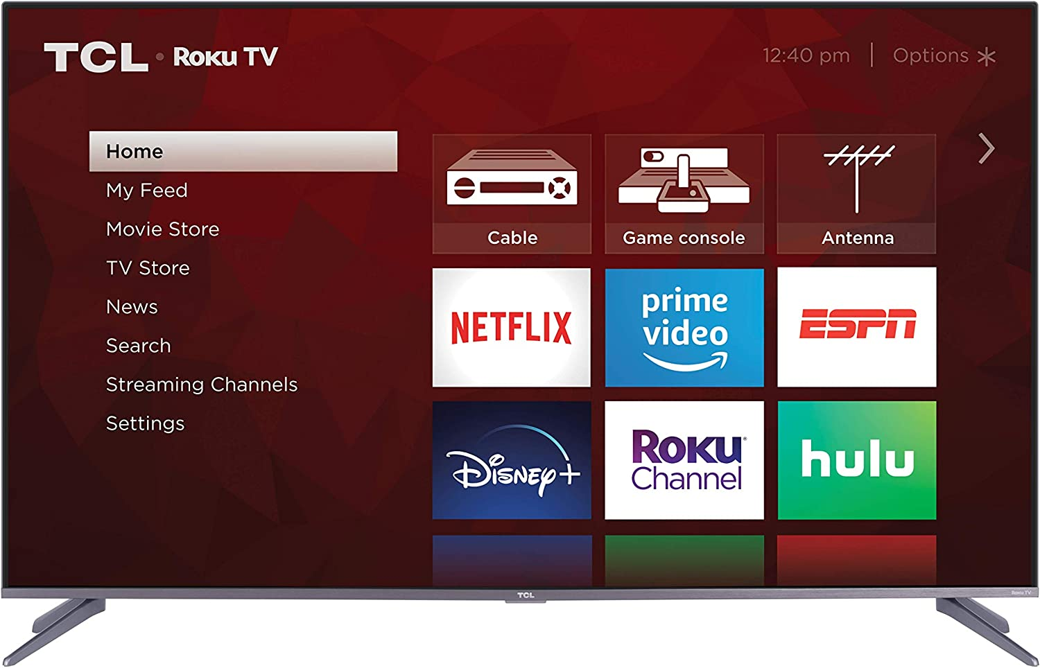 TCL 65 inch 4K UHD Dolby Vision HDR QLED Roku Smart TV 65S535