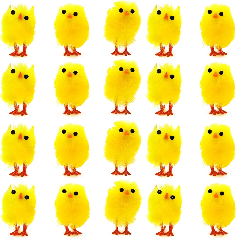 36 Adorable Polluelo Esponjoso Pequeño – Pollito Amarillo para Adorno de Pascua – Juguete Para la Mesa y Decoración de Fiesta, regalos juguetes, articulos de caza huevos sorpresa (Set de 36)