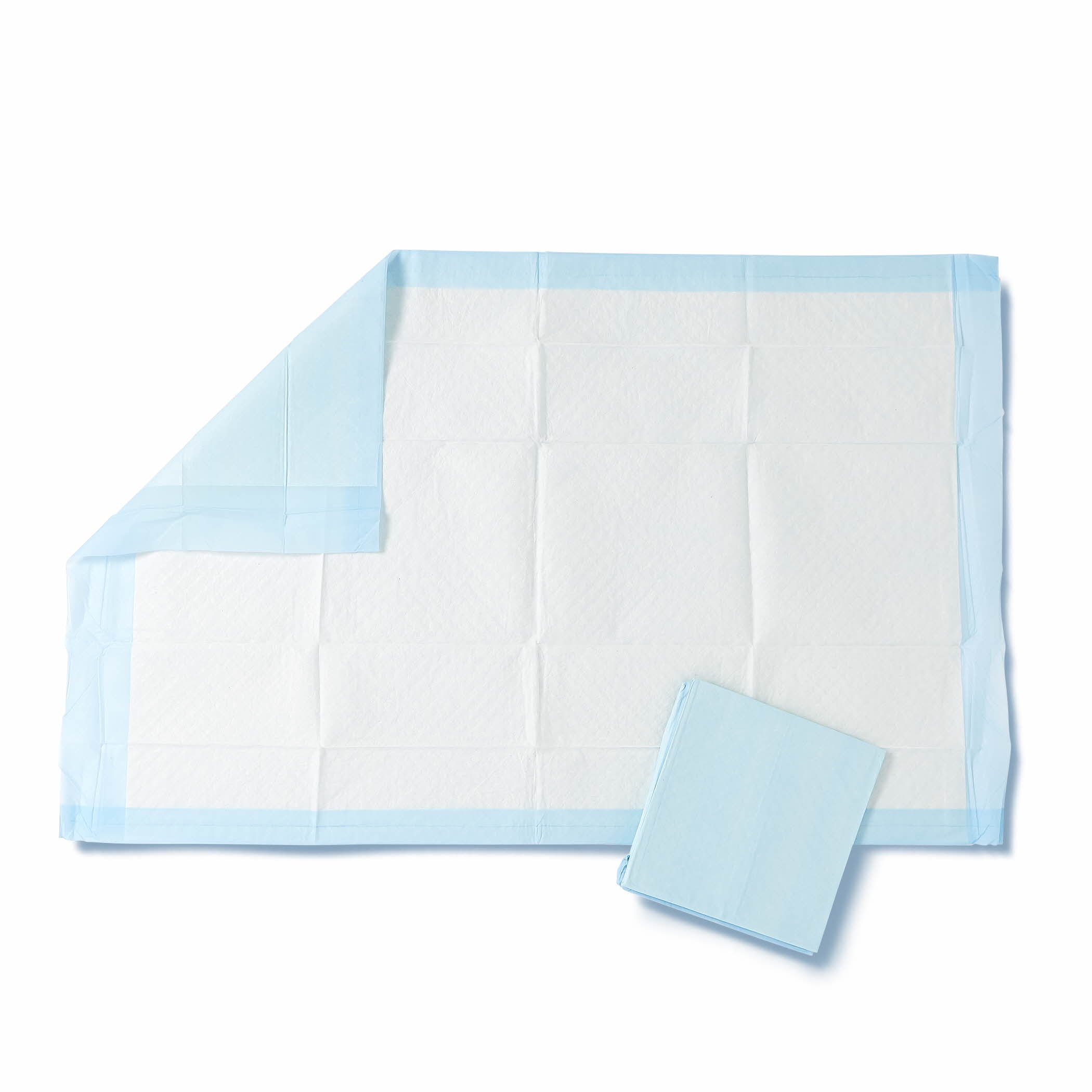 Medline Quilted Basic Disposable Blue Underpad, 23'' x 36'' for Incontinence, Furniture Protection or Pet Pads (Pack of 150) by Medline (Image #2)