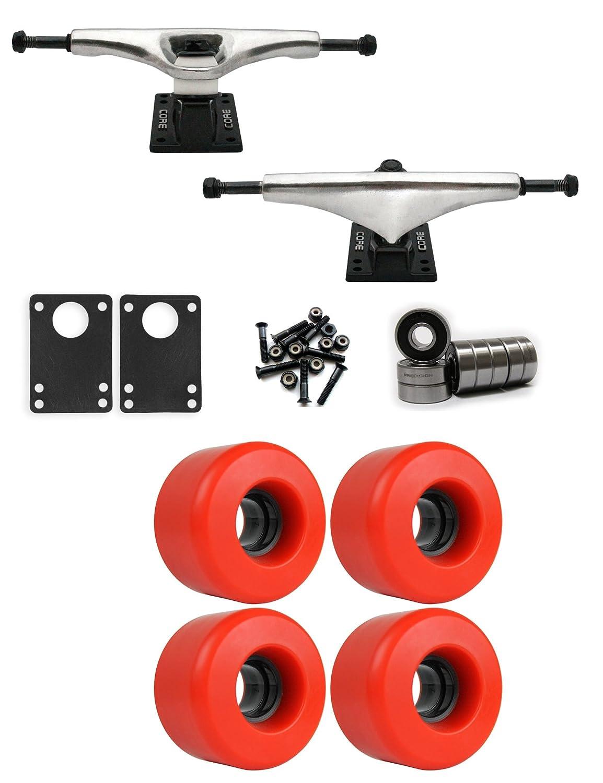 コア7.0 Longboard Trucksホイールパッケージ63 mm x 40 mm 78 a 485 Cレッド   B01IJ5962U