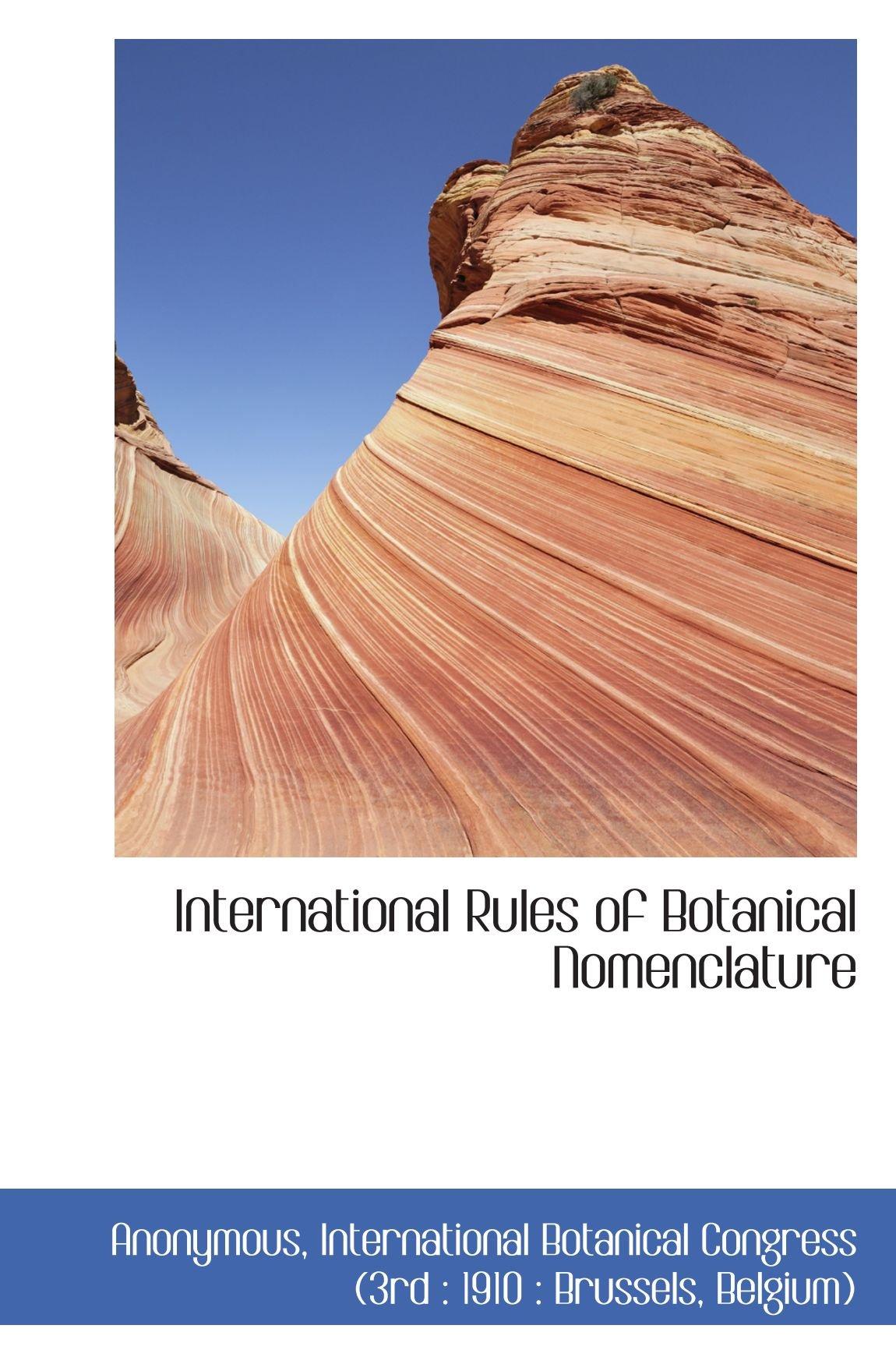 International Rules of Botanical Nomenclature (French Edition) pdf
