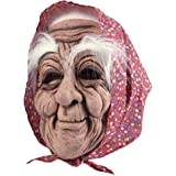 Bristol Novelty BM432 Old Woman Mask with Headscarf, One Size