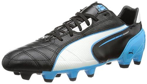 Puma Spirit FG Scarpe da calcio uomo Nero Schwarz black white fluo blue 07 39