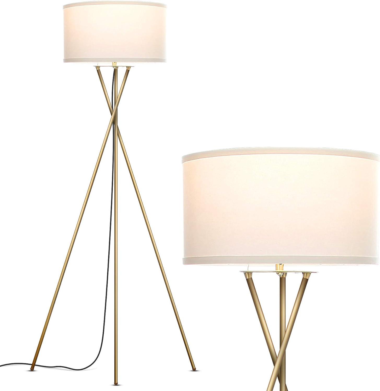 Brightech Jaxon Tripod Led Floor Lamp Mid Century Modern Living