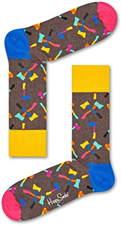 Happy Socks Axe Sock, Calcetines para Hombre, Marrn (Braun 8000 ...