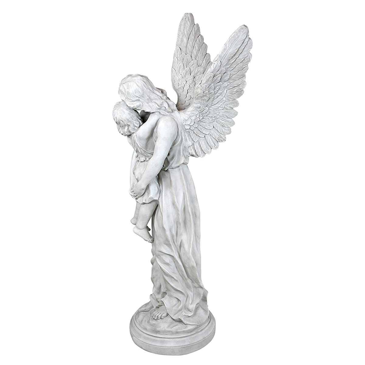 Design Toscano Heavens Guardian Angel Garden Statue, Antique Stone