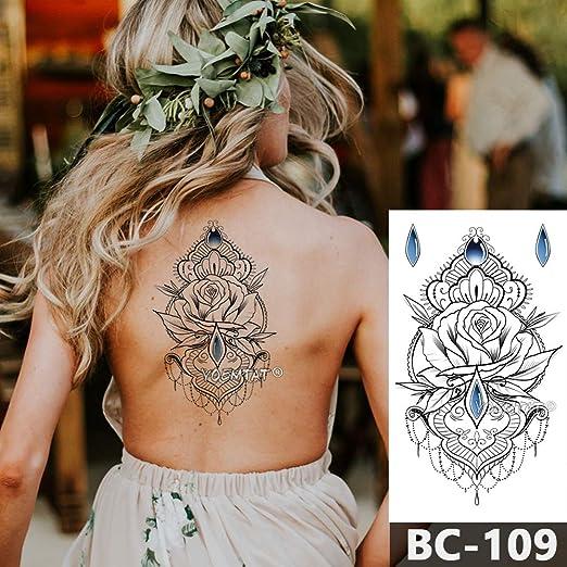 tzxdbh Pecho Tatuaje del Cuerpo Temporal a Prueba de Agua de ...