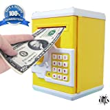 ATM Money Bank By Cora|Speaking ATM Machine Safe For Kids with Smart Electronic Lock | Piggy Bank for Coin/Bills .| Best For Gifts And Personal Use | multicolour