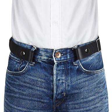 05c85f6e91d VBIGER Ceinture Homme Femme Elastique sans Boucle Ceinture Unisexe  extensible invisible pour Jeans Pantalons Largueur 3.5