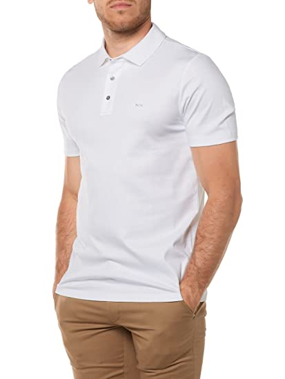 Michael Kors Sleek Liquid Mk Short Sleeved Polo Small WHITE ...