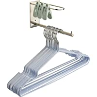 Clothes Hanger Stacker Holder Storage Organizer Rack for Closet & Laundry Room Tidier, Wall Mount, Adhesive or Drilling…