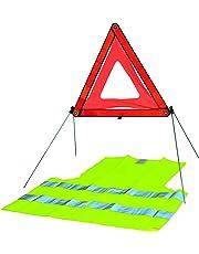 kit securite automobile - 1 triangle de signalisation + 1 gilet jaune