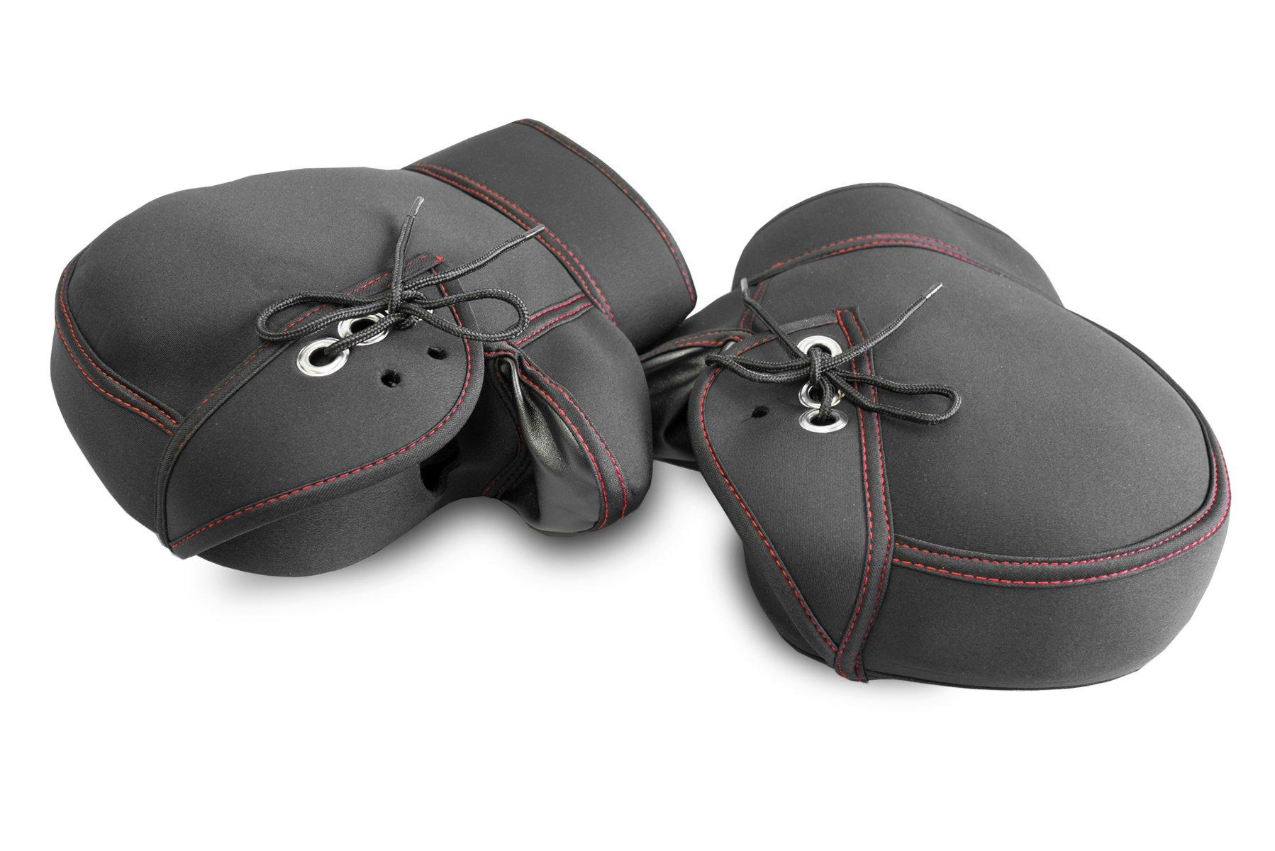 OSS ( 大阪繊維資材 ) ネオプレーン 防寒防水ハンドルカバー ブラック 保温性抜群 WNHC-03
