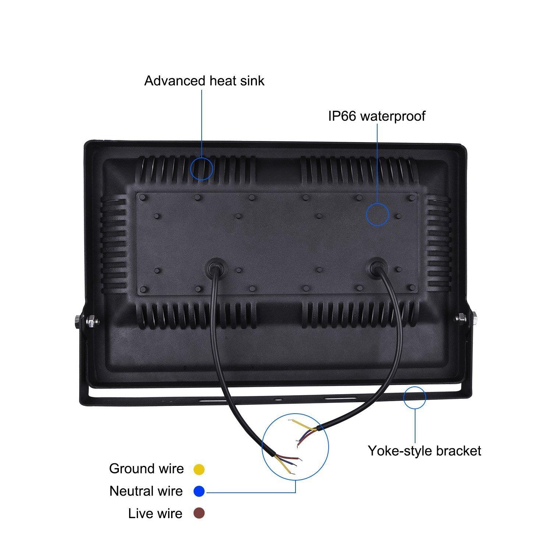 Viugreum Focos Led Exterior 100W Impermeable IP66 6500k Reflector L/ámpara para Exterior//Interior//Jard/ín,Bajo Consumo 220V Blanco Fr/ío-Nueva Versi/ón