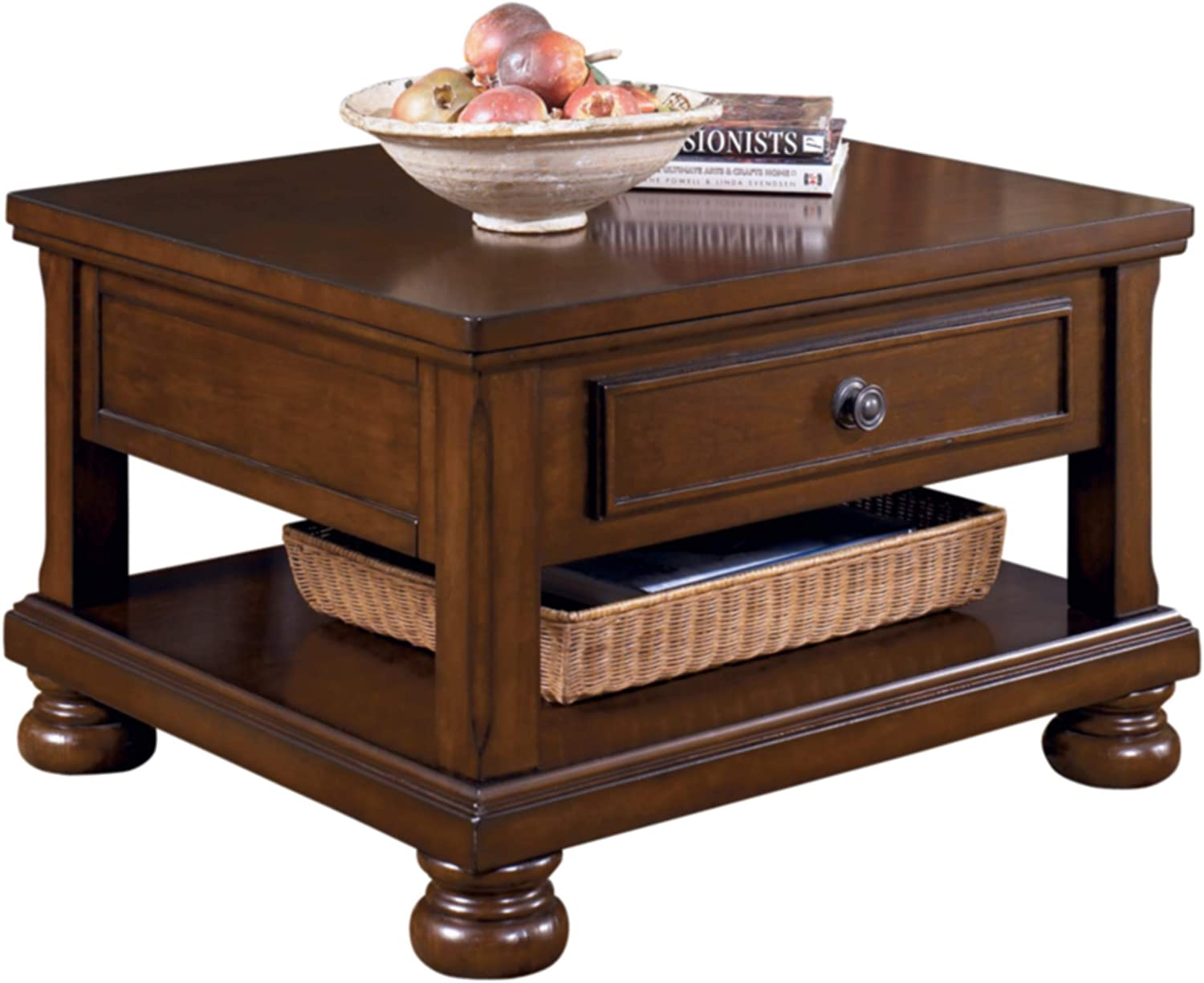 Amazon Com Signature Design By Ashley Porter Lift Top Coffee Table Rustic Brown Home Kitchen