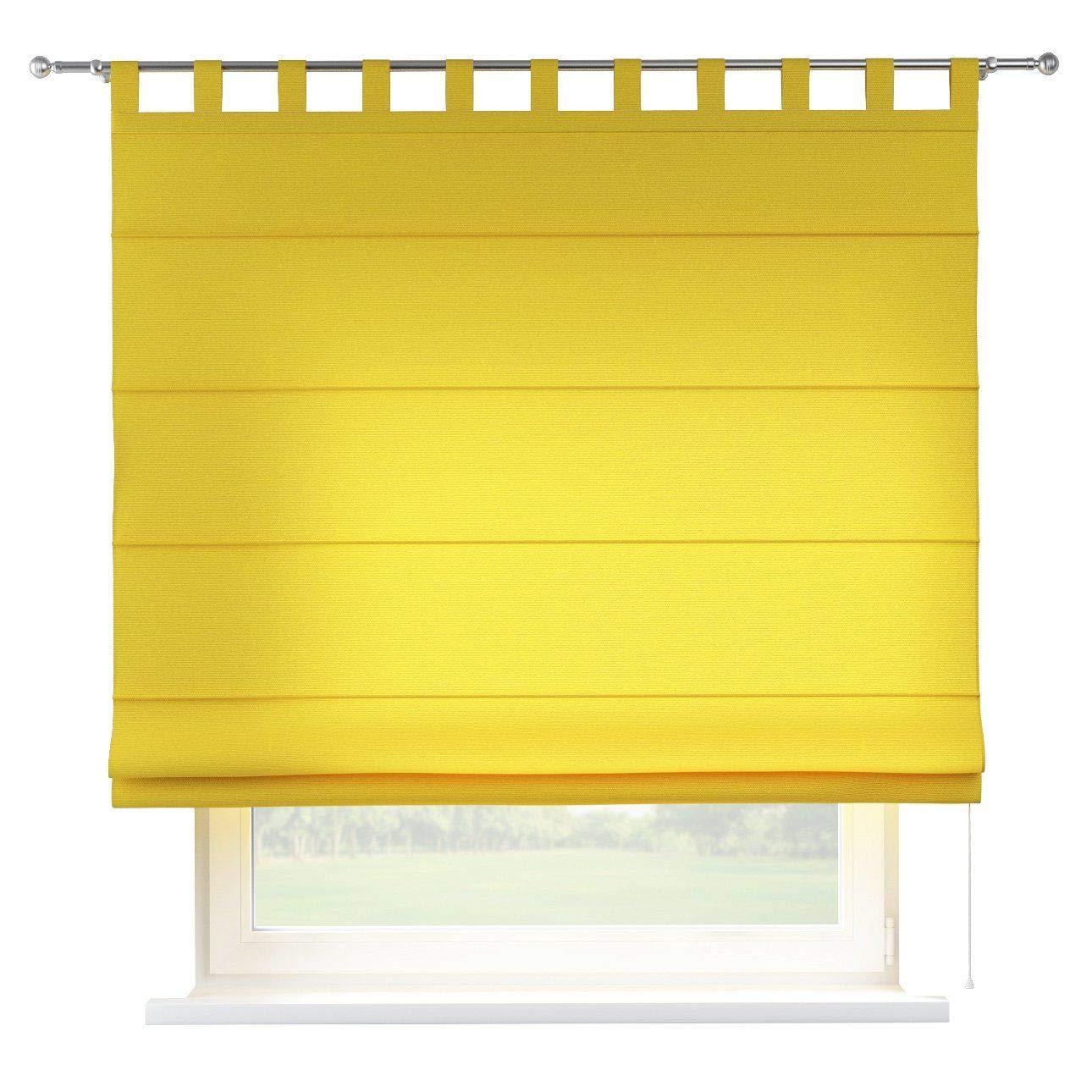 Dekoria Raffrollo Verona ohne Bohren Blickdicht Faltvorhang Raffgardine × Wohnzimmer Schlafzimmer Kinderzimmer 130 × Raffgardine 170 cm gelb Raffrollos auf Maß maßanfertigung möglich 01bf56