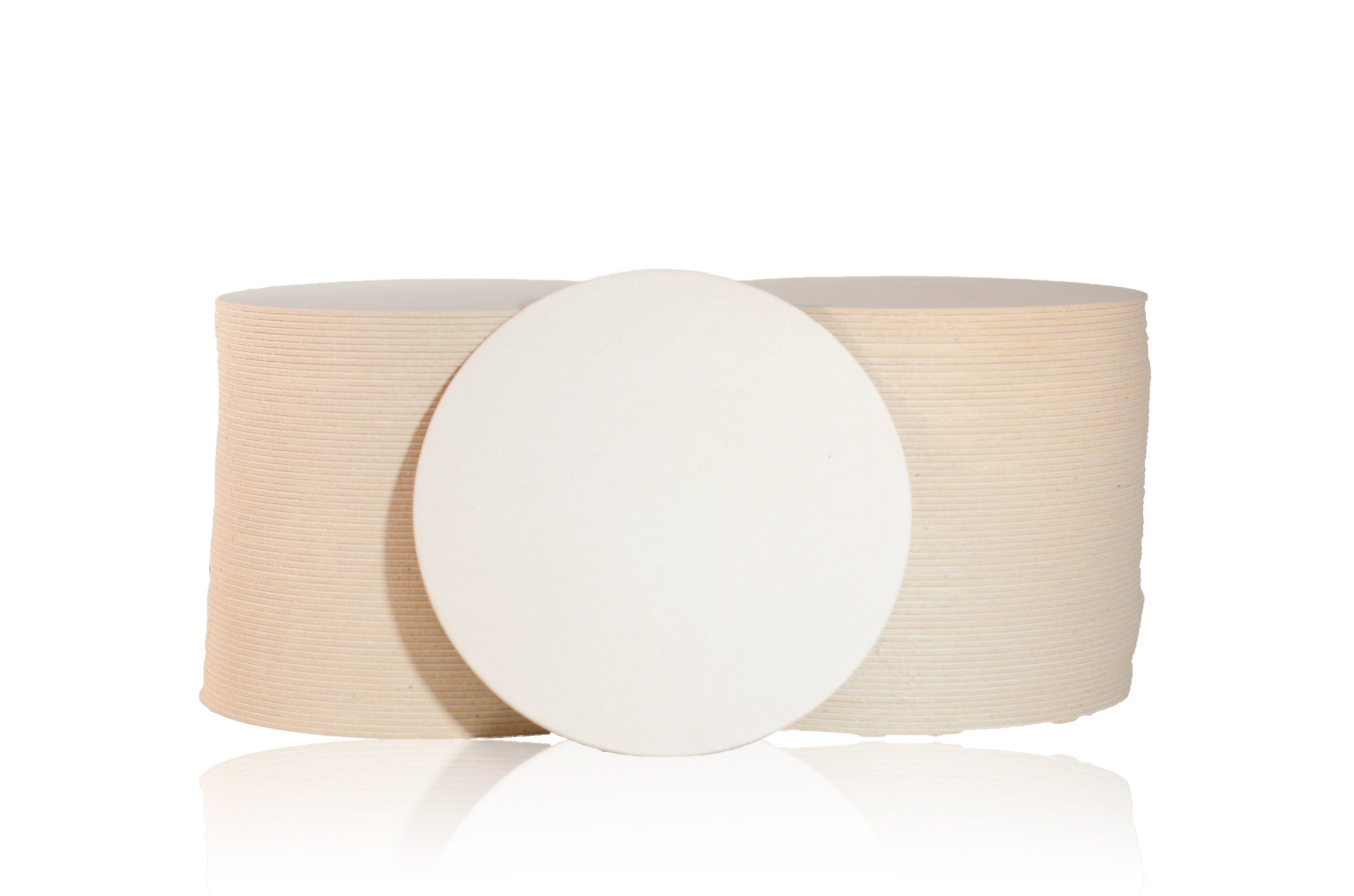Katz Americas 4'' Round Mediumweight (55pt) Blank Pulpboard Coaster (Case of 1,000)