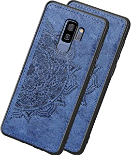 HMTECHUS Case for Galaxy S9+ Glitter Bling Diamond Luxury Plating Silicon TPU Soft Cover with Ring Stand Holder Ultra-Thin Protection Compatible with Samsung Galaxy S9 Plus Plating TPU Purple KDL