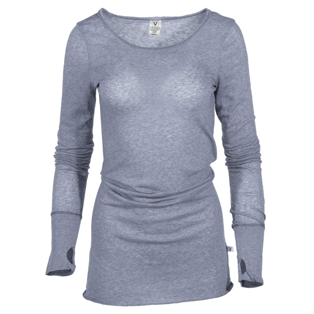 ddb2ae21 Layla- Women's Crew Neck Soft Premium Long Sleeve Tee with Thumbholes at  Amazon Women's Clothing store: